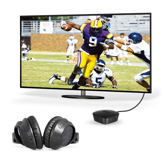 MEE Audio T1M3 Connect Matrix 3 Bluetooth Wireless Headphone System for TV  - Includes Matrix 3 Bluetooth Wireless Audio Transmitter and Headphones