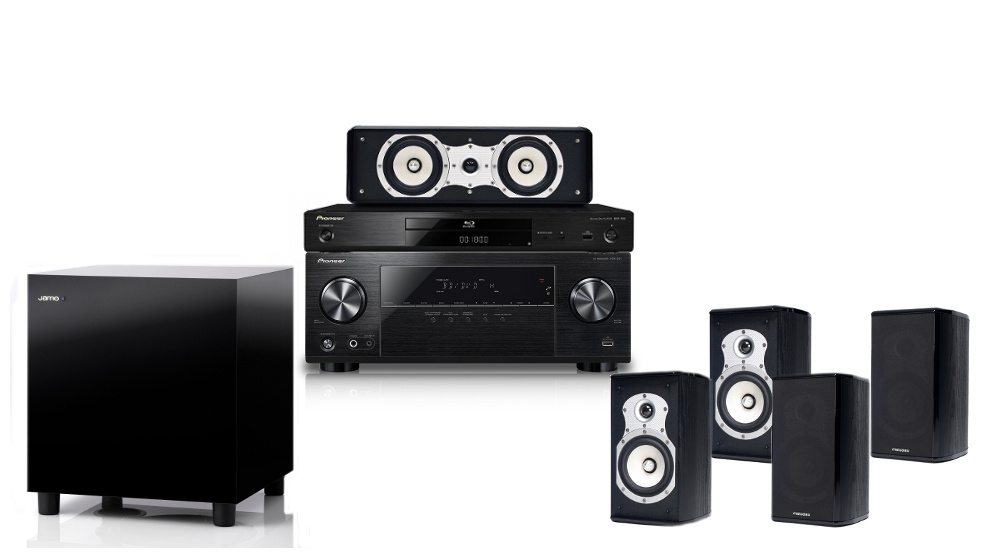 Pioneer BDP180 + Pioneer VSX-531 + Melodika BL20 + Melodika BLC20 + JAMO  SUB 210 Home cinema system 5 1